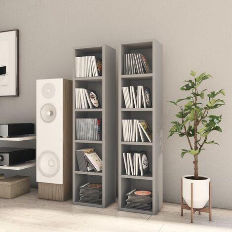 CD Cabinets 2 pcs Grey 21x16x93.5 cm Chipboard