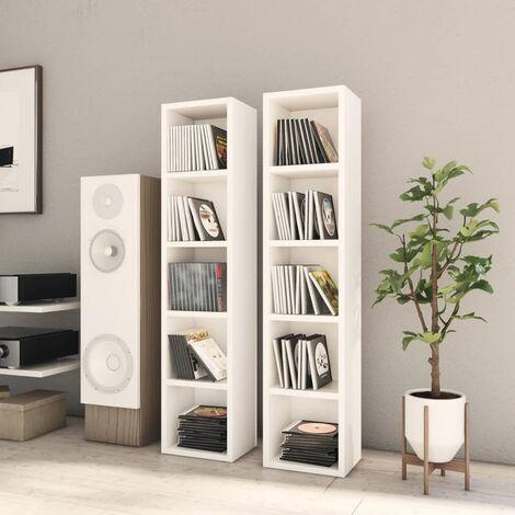 CD Cabinets 2 pcs White 21x16x93.5 cm Chipboard