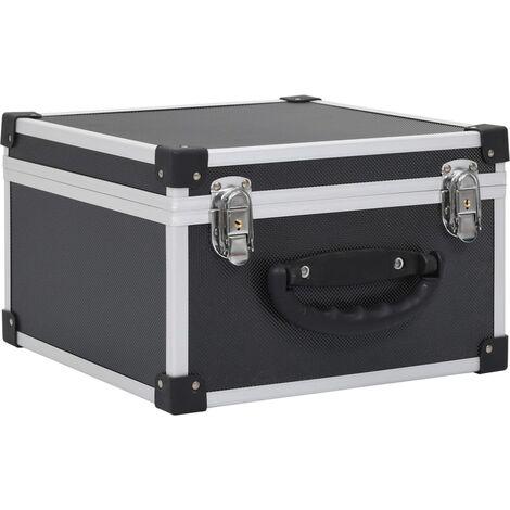 CD Case for 40 CDs Aluminium ABS Black