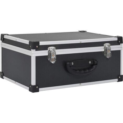 CD Case for 60 CDs Aluminium ABS Black