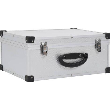 CD Case for 60 CDs Aluminium ABS Silver