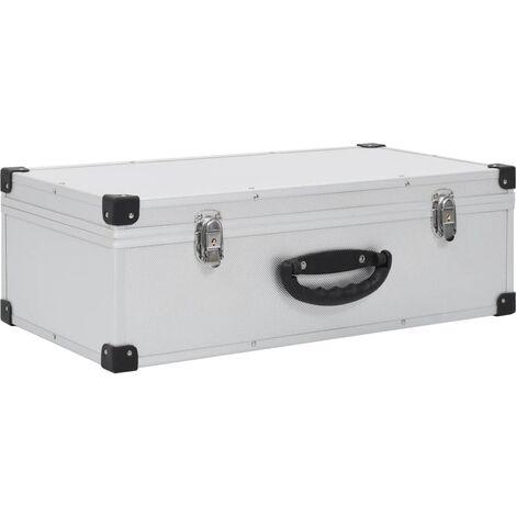 CD Case for 80 CDs Aluminium ABS Silver