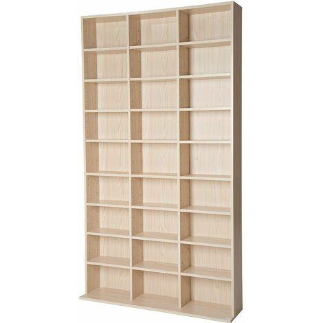CD storage - 27 shelves for 1080 CDs - dvd storage, cd rack, book shelf