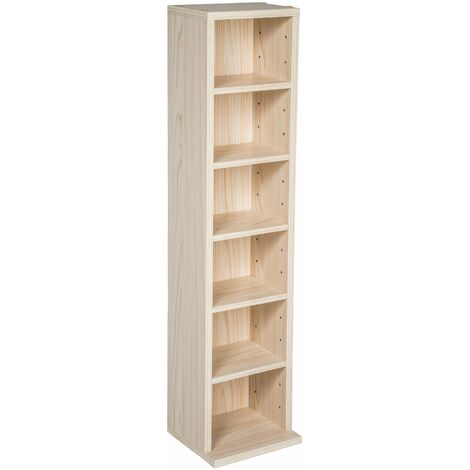 CD storage - 6 shelves for 102 CDs - dvd storage, cd rack, book shelf