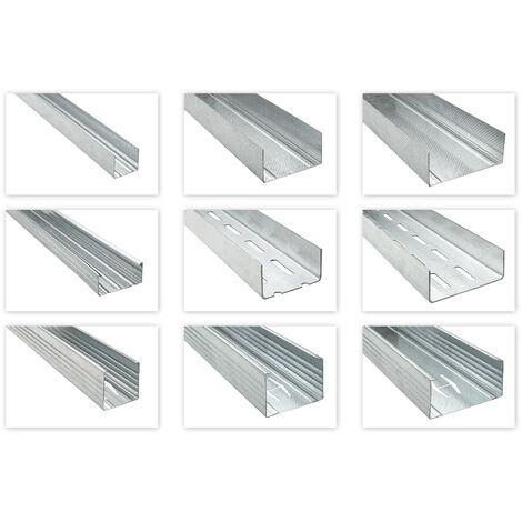 CD UD CW UW UA profilés pour cloisons sèches 2-3m de plafond à ossature de suspension paquets d'expédition