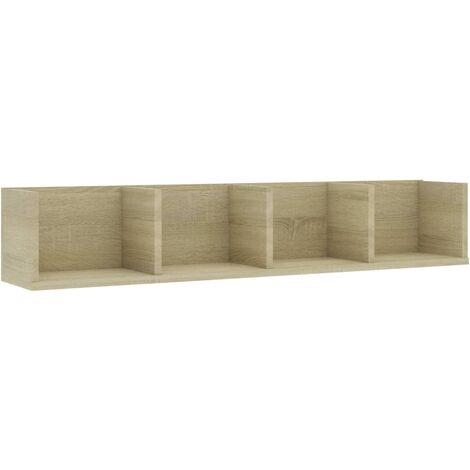 CD Wall Shelf Sonoma Oak 100x18x18 cm Chipboard