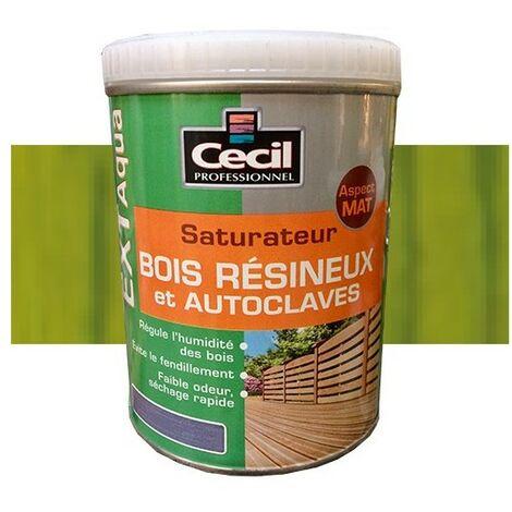 CECIL EXT Aqua Saturateur Bois résineux et autoclaves Vert autoclave 1L