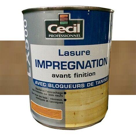 CECIL LX500 Lasure d'imprégnation Bois foncé 1L