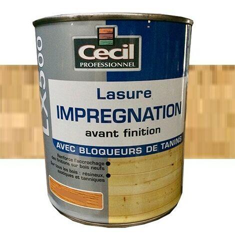 CECIL LX500 Lasure d'imprégnation Chêne clair 1L