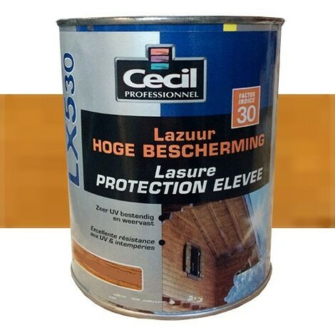 CECIL LX530+ Lasure Haute Performance Châtaignier 1L
