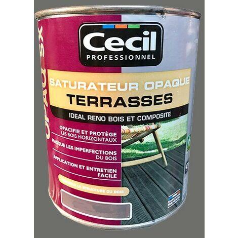 CECIL OPAQ SX Saturateur Terrasses Bois grisé 5 L - Bois grisé