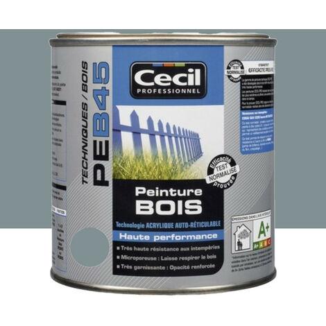 CECIL Peinture Bois PEB45 Gris bleuté 0,5 L - Gris bleuté