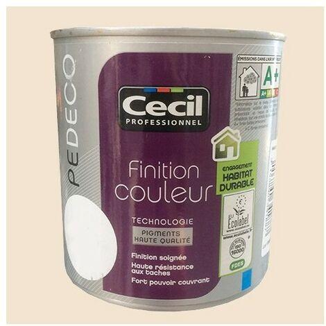 CECIL Peinture PE DECO Finition Couleur Mat Fleur de coton 0,5 L - Fleur de coton
