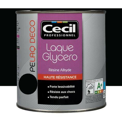 CECIL Peinture PELAQ DECO Satin Noir 0,5 L - Noir
