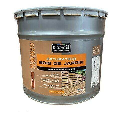 CECIL SX620 Saturateur Bois de jardin Teck 10 L
