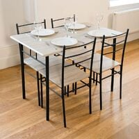 Cecilia 5 Piece Table & Chair Set