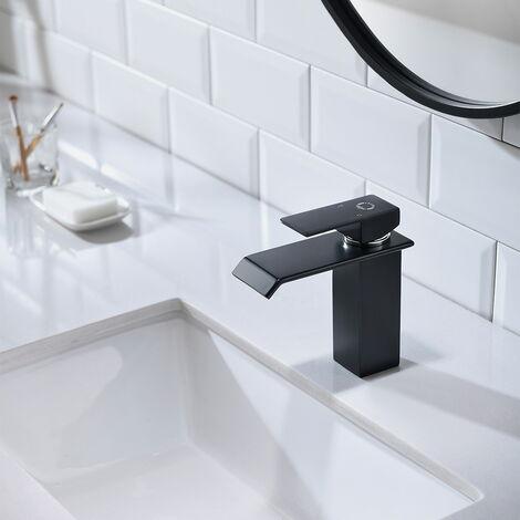 CECIPA Design Wasserhahn Bad   Osmose Armatur Waschtischarmatur Einhebelmischer Mischbatterie   Waschbeckenarmatur für Badezimmer Waschbecken, Schwarz