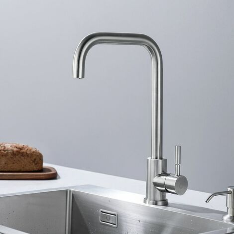 Cecipa Mitigeur de Cuisine Pivotant à 360° Confortable et écologique Acier Inoxydable