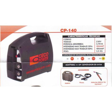 CECO.INVERTER CP140 C/ACCESORIOS
