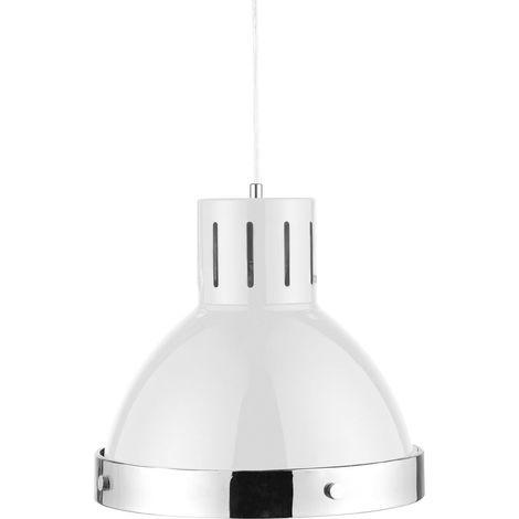 Ceiling and pendant light, white/chrome