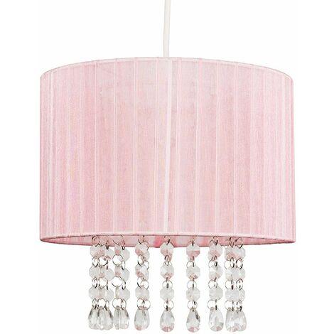 Ceiling Chandelier Lamp Shade Light Acrylic Jewel Lighting - Grey