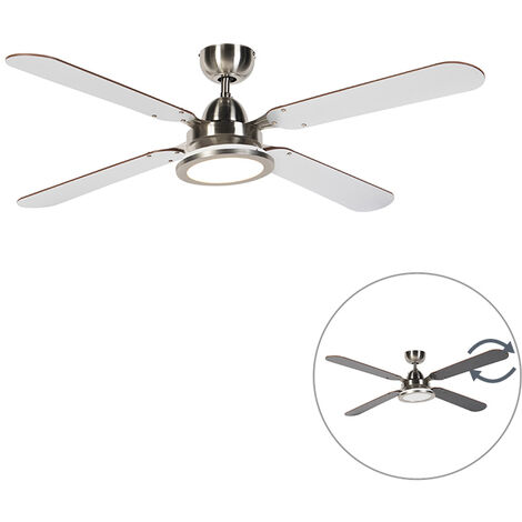 Ceiling fan gray with remote control - Fanattic