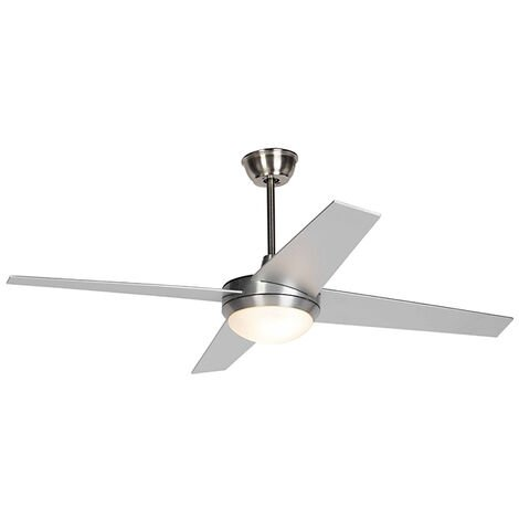 Ceiling fan silver with remote control - Roar 52