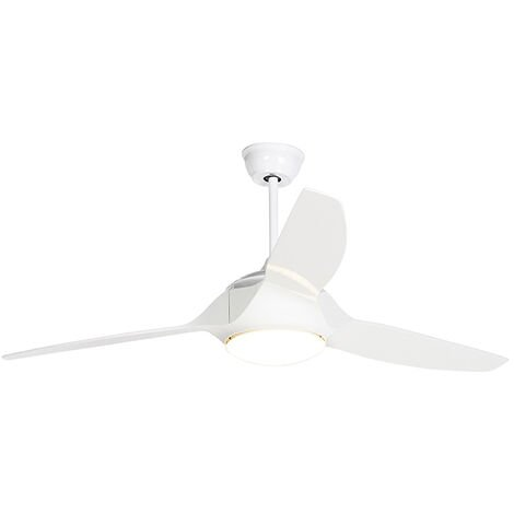 Ceiling fan white incl. LED with remote control - Marin 56