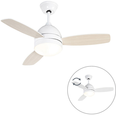 Ceiling fan white incl. Remote control - Rotar