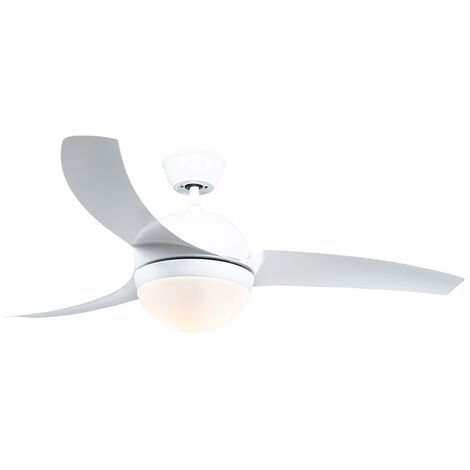 Ceiling fan white with remote control - Bora 52