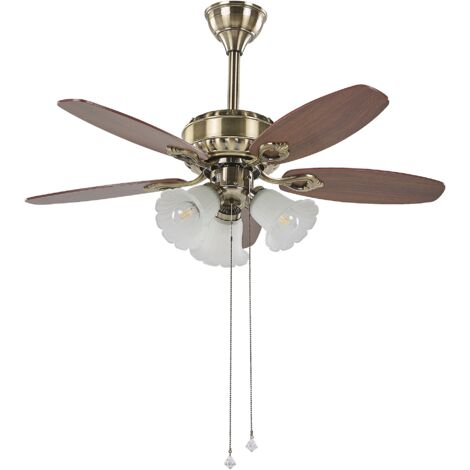 Ceiling Fan with Light Gold NADELA