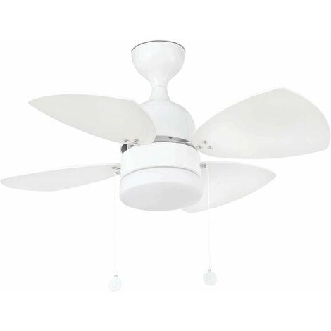 Ceiling fan with light white Mediterraneo 1 bulb