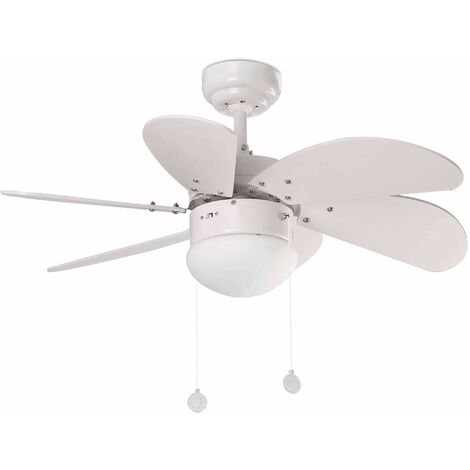 Ceiling fan with white light Palao 1 bulb