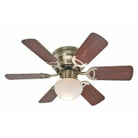 "Ceiling Fans with Lighting ""Flavio"" (modern) in Brown made of Wood (1 light source, E27, A++) from Lampenwelt"