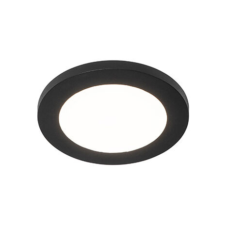 Ceiling lamp black 17 cm incl. LED 3-step dimmable - Steve