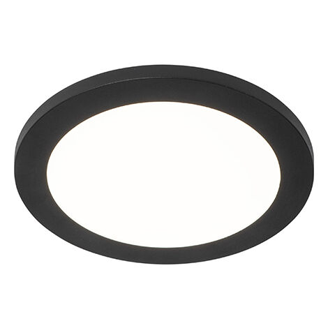 Ceiling lamp black 22.5 cm incl. LED 3-step dimmable IP44 - Steve