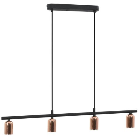Ceiling Lamp Black and Copper 80 cm E27