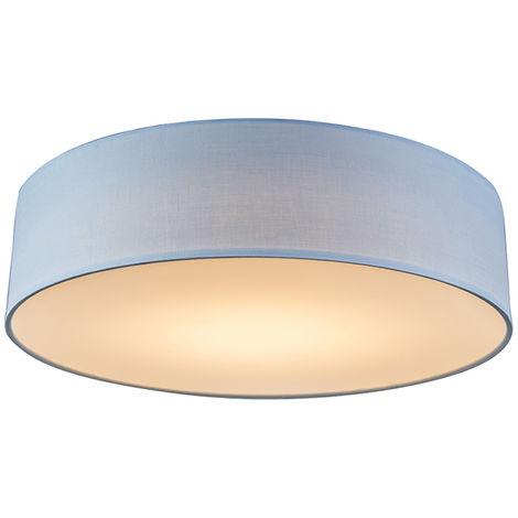 Ceiling lamp blue 30 cm incl. LED - Drum LED
