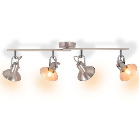 Ceiling Lamp for 4 Bulbs E14 Silver