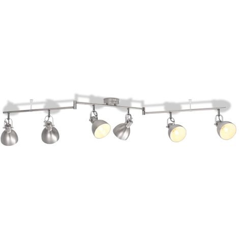 Ceiling Lamp for 6 Bulbs E14 Grey