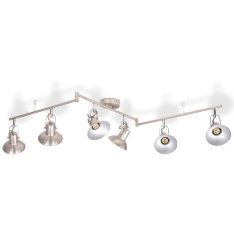 Ceiling Lamp for 6 Bulbs E14 Silver