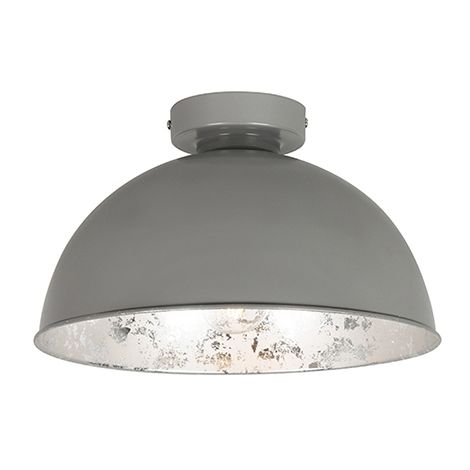 Ceiling lamp gray with silver 30 cm - Magna Basic