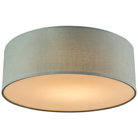 Ceiling lamp green 40 cm incl. LED - Drum LED