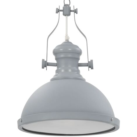 Ceiling Lamp Grey Round E27