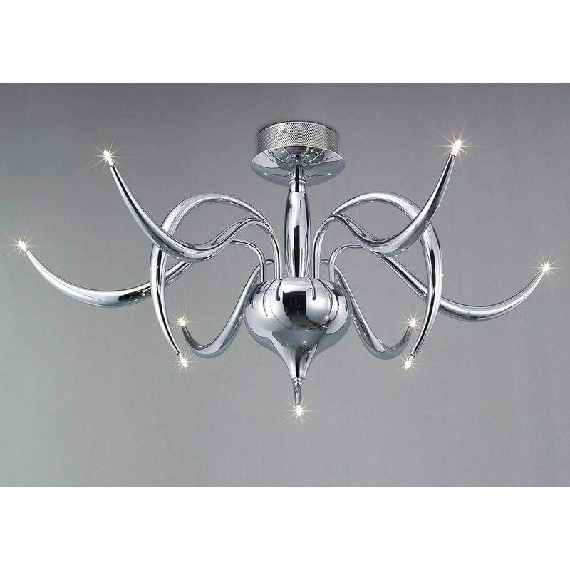 Image of 09-diyas - Ceiling lamp Llamas 9 Bulbs polished chrome
