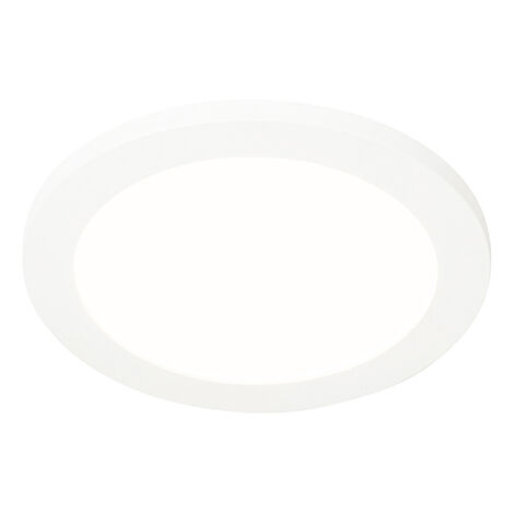 Ceiling lamp white 22.5 cm incl. LED 3-step dimmable IP44 - Steve