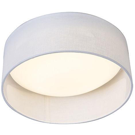 Ceiling Lamp White 28cm incl. LED - Drum Combi