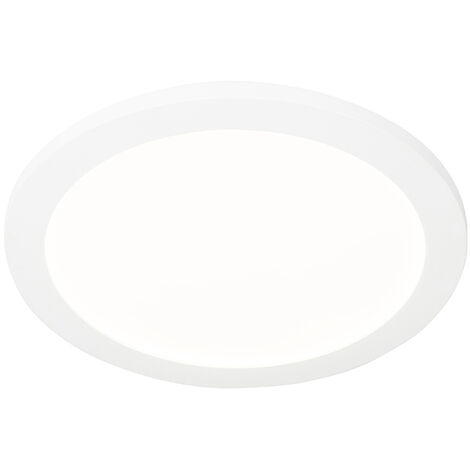 """main image of """"Ceiling lamp white 30 cm incl. LED 3-step dimmable IP44 - Steve"""""""