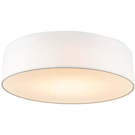 Ceiling lamp white 30 cm incl. LED - Drum LED