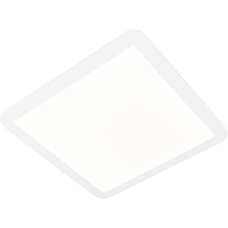 Ceiling lamp white 40 cm incl. LED 3-step dimmable IP44 - Steve